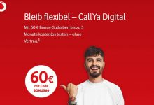 Vodafone fires CallYa Digital (10 GB) with 60 euros credit!